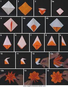 DIY origami flower                                                                                                                                                                                 Más                                                                                                                                                                                 Más