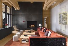#livingroom #modernrustic   Rustic Living Room by Atelier AM and Finholm Architects in Aspen, Colorado