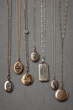 vintage gold and silver lockets.