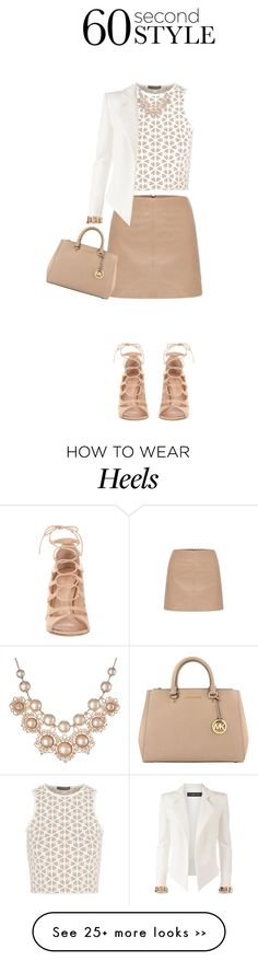 """""""60 Second Style: Lace-Up Heels"""" by elizabeth-912 on Polyvore"""