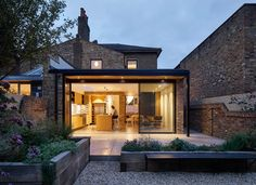 The Victorian Notch House by Platform 5 Architects House Extension Design, Glass Extension, Roof Extension, House Design, Victorian Terrace, Victorian Homes, Semi Detached, Detached House, Kitchen Diner Extension