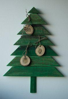 Mogosa 3 Christmas Tree / reclaim wood / 5 sustaining by DecoBoxRo, $52.00