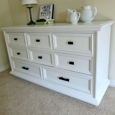 How To Paint Furniture - Finished painted dresser