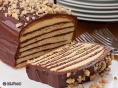 Seven Layer Cake NO BAKE. | mrfood.com Starts with frozen pound cake. Can modify with pudding in layers for Boston Cream Pie flavor, or jam in layers