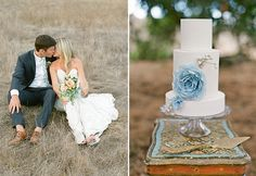 Loving this shot by Lane Dittoe of some chippy paint from Found Vintage Rentals in an inspired shoot