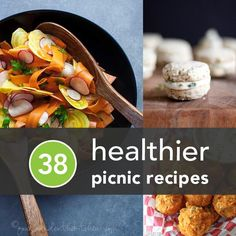 38 Healthier Picnic Recipes: When you're trying to be romantic AND healthy. Healthy Picnic Foods, Healthy Menu, Healthy Eating, Healthy Recipes, Vegetarian Picnic, Delicious Recipes, Picnic Recipes, Picnic Ideas, Sandwich Recipes