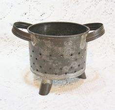 Antique Tin Footed Cheese Mold ~ SOLD