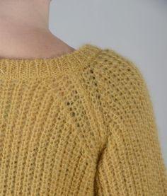 maglia morbida in lana mohair lavorazione mezza costa inglese bordi a coste