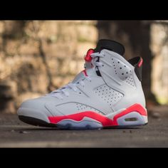 Jordan 6 infrared Authentic. Comes with box. Youth size 4 equivalent to Womens 6.5. Worn a few times. Otherwise kept in excellent condition. Price is NOT firm. Best offer takes it. NO TRADES. Jordan Shoes Sneakers