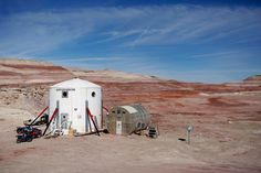 The Mars Desert Research Station (MDRS) is seen in the Utah desert on March 2. (Jim Urquhart/Reuters)