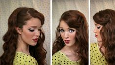 The Freckled Fox : Sweetheart Hair Week: Tutorial #1 - Classic Bombshell