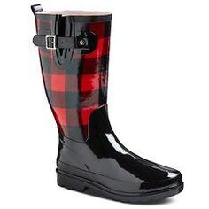 Women's Western Chief Buffalo Plaid Rain Boots