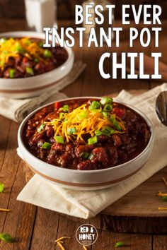 Best-ever Instant Pot Chili (w/ dried beans!)