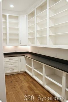 two tone kitchen cabinets, used corner kitchen pantry cabinet, unfinished kitche… – White N Black Kitchen Cabinets Storage Room Organization, Kitchen Organization Pantry, Kitchen Storage, Organization Ideas, Food Storage, Storage Room Ideas, Pantry Diy, Pantry Makeover, Cabinet Makeover