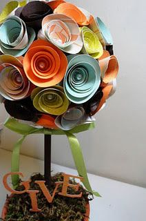 Paper topiary very cool diy pinterest craft easter and paper topiary very cool diy pinterest craft easter and craft corner mightylinksfo