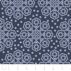 Camelot Cottons House Designer - The Alchemy - Medallions in Indigo