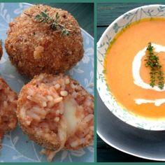 Creamy butternut soup with arancini- style stuffed rice balls by #freshlyblogged contestant Zirkie Schroeder #recipe #picknpay