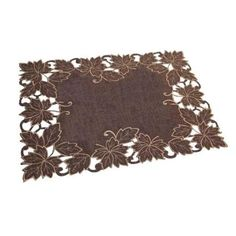 """Pack of 4 Lavish Maple Leaves Thanksgiving Table Placemats 18.25"""" - Walmart.com"""