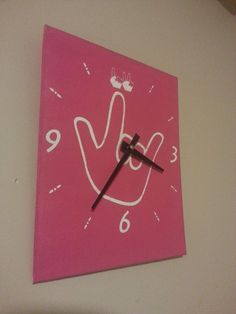 I love you ILY Clock in American Sign Language by ILYSIGNS on Etsy, $25.00