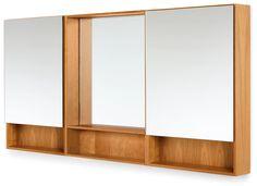 Durant Medicine Cabinet Sets - Modern Bath Furniture - Room & Board Wood Medicine Cabinets, Medicine Cabinet Mirror, Modern Bathroom Mirrors, Modern Vanity, Wall Mirror With Shelf, Storage Mirror, Modern Baths, Home Office Decor, Home Decor