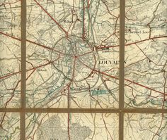 Leuven stafkaart, militaire stafkaart, 1/40.000, Louvain, 1920-1930