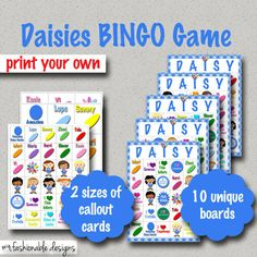 Girl Scouts: DAISIES BINGO GAME!!! Print your own!
