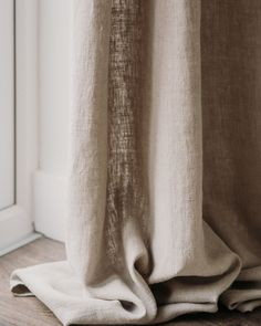 If you know about interiors you'll know that curtains define a room. Our new range of luxury linen curtains are available ready made as well as bespoke, and are the perfect finishing touch for your interior. Linen Curtains, Curtain Fabric, Linen Bedding, Bath Linens, Kitchen Linens, Shades Of White, Table Linens, Soft Furnishings, Bespoke