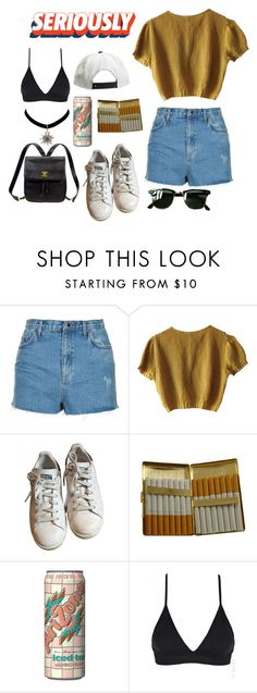 """Geen titel #105"" by aamevl ❤ liked on Polyvore featuring Topshop, Schumacher, adidas, KING, Ray-Ban and Kate Spade"