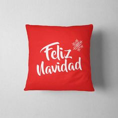 Christmas decoration Christmas pillow Feliz Navidad