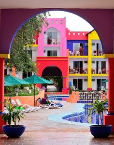 *this is the exact resort that I stayed at this summer! I am so excited it was just on my pinterest feed!* - Colorful spectacle, Bucerias, Mexico