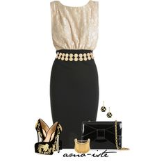 """""""Black & Gold"""" by amo-iste on Polyvore"""