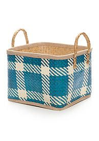 Elements Palm Leaf Woven Basket