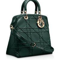 diorgranville_koyu_yesil_canta Dior Çanta Modelleri http://dior.cantamodelleri.us/dior-canta-modelleri/  #handbag #bag #canta #çanta #dior