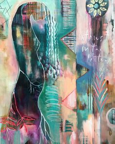"""News Art Love - Flora Bowley - News Art Love – Flora Bowley """"Trust In The Letting Go"""" Brave intuitive painting by Flora Bowley Flora Bowley, Collage Art Mixed Media, Artist Painting, Painting Styles, Botanical Art, Art Pictures, Creative Art, New Art, Abstract Art"""