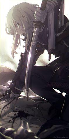 Manga Anime Girl, Cool Anime Girl, Anime Girls, Cute Anime Character, Character Art, Guerra Anime, Fantasy Kunst, Anime Military, Anime Warrior