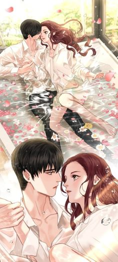 Starting today, episodes of the episode of Heaven and Earth: INSIDE Korea JoongAng Daily Anime Love Couple, Couple Art, Best Couple, Sketches Of Love, Anime Drawings Sketches, Anime Couples Manga, Cute Anime Couples, Animated Man, Korean Couple