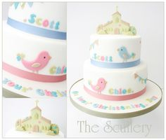 for a brother and sister xx Christening Cake Girls, Baptism Cakes, Twins Cake, Girl Cakes, Baby Cakes, Love Cake, Let Them Eat Cake, Cake Designs, Amazing Cakes