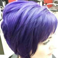 Purple Hair!!!  What's your Fashion color  this Fall???  Little Red's   Cut& Dye Salon LLC 609-A south main st Sapulpa ok  9189029479