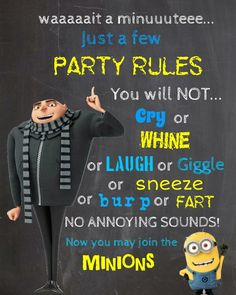 Minions Party Rules More