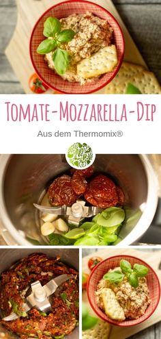 Salsa de tomate y mozzarella de Thermomix® - Fleischrezepte aus dem Thermomix® - Recetas Mozzarella, Salad Recipes, Healthy Recipes, Mediterranean Spices, Dried Tomatoes, Tzatziki, Grilling Recipes, Finger Foods, Feta