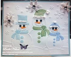 Christmas, Darice Snowman Trio by lnelson74 - Cards and Paper Crafts at Splitcoaststampers