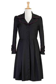 eShakti Vintage bow-tied frock coat.