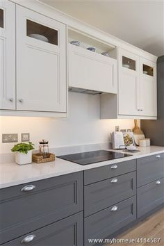 considering a not all white kitchen Kitchen Cabinet Colors, Kitchen Redo, Kitchen Cupboards, Home Decor Kitchen, Kitchen Interior, New Kitchen, Home Kitchens, Kitchen Remodel, Kitchen Ideas