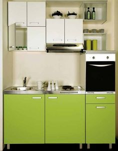18 Best Green Colour Designs Images Small Kitchens Kitchen Units