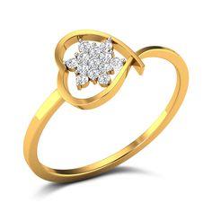 Buy Rudi Heart Diamond Ring in Grams Gold Online Single Diamond Necklace, Buy Diamond Ring, Gold Diamond Rings, Diamond Gemstone, Diamond Heart, Gemstone Rings, Diamond Jewellery, Gold Ring Designs, Jewellery Designs