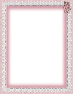 pink & white lace romantic frame