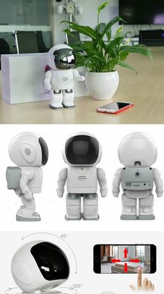 Wireless Robot IP Camera for home security/nanny cam. Camera with night vision, 2-way audio, P2P remote view.
