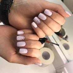 Top 10 light blue square acrylic nails inspiration from. Nude Nails, Nail Manicure, Nail Polish, Pale Pink Nails, Gel Nail, May Nails, Hair And Nails, Short Square Nails, Short Nails