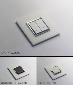 Suppliers of luxury light switches and electrical fittings in a white Corian finish. Italian designed and manufactured beautiful luxury quality. Modern Light Switches, Designer Light Switches, Light Switches And Sockets, Electrical Switches, Electrical Fittings, Electrical Outlets, Touch Light Switch, Light Switch Covers, Home Switch