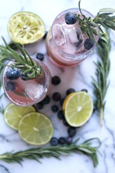 Rosemary, Blueberry, & Citrus Mocktail - Cooking with Books